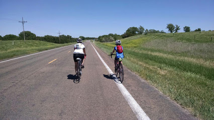 Two people on road bikes